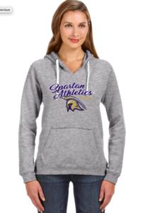 J America Ladies Hoodie with Spartan Logo